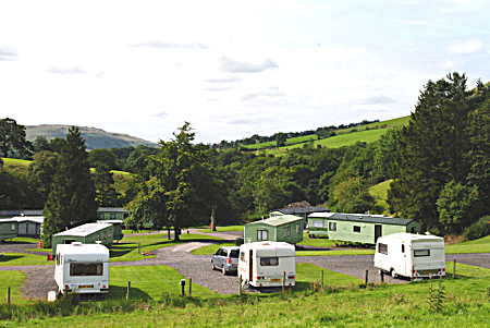 Touring Caravans at Cautley Sedbergh, August 2015