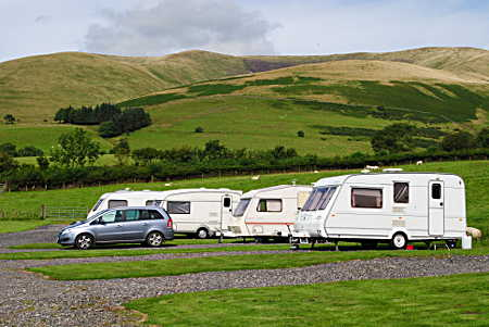 Tourers at Cross Hall farm Sedbergh