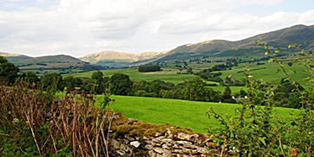 Howgills Cumbria from the south west