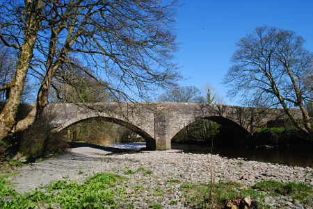 Sedbergh Cumbria New Bridge River Rawthey
