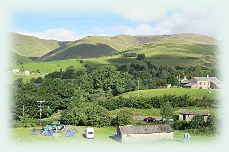 The Howgills, looking over our camping field