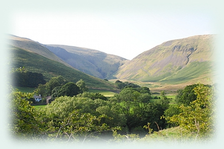 The Howgills looking towards Cautley Spout